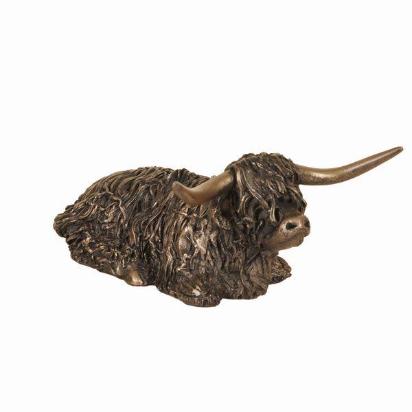 Highland Bull Sitting - Medium