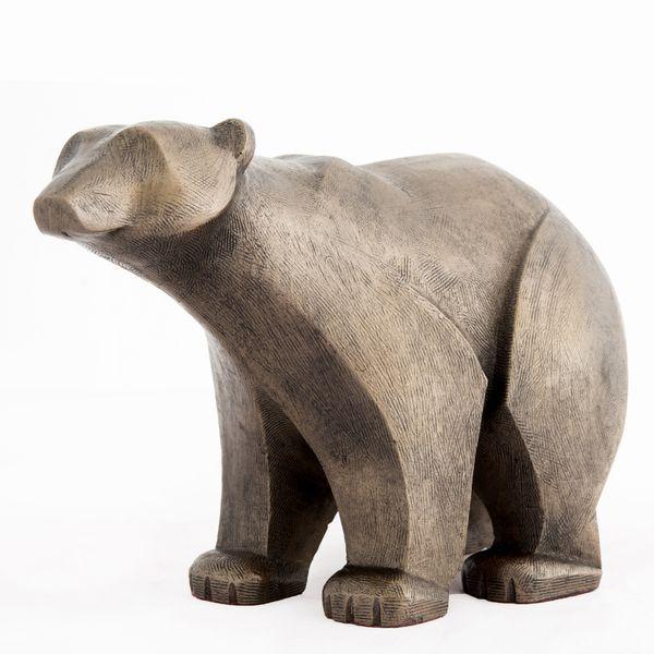 Polar Bear standing - bronze finish