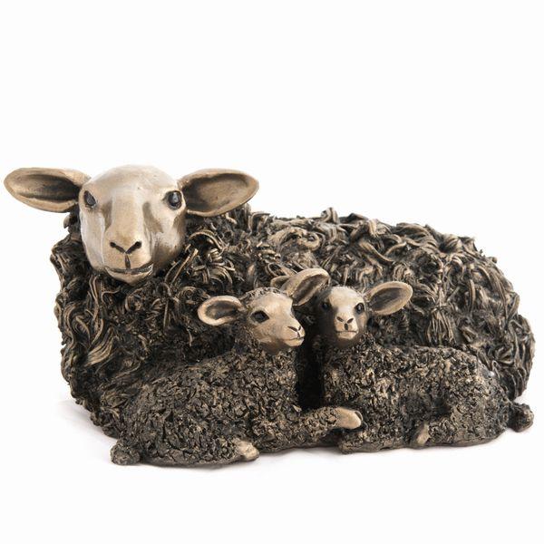 Ewe and Twin Lambs